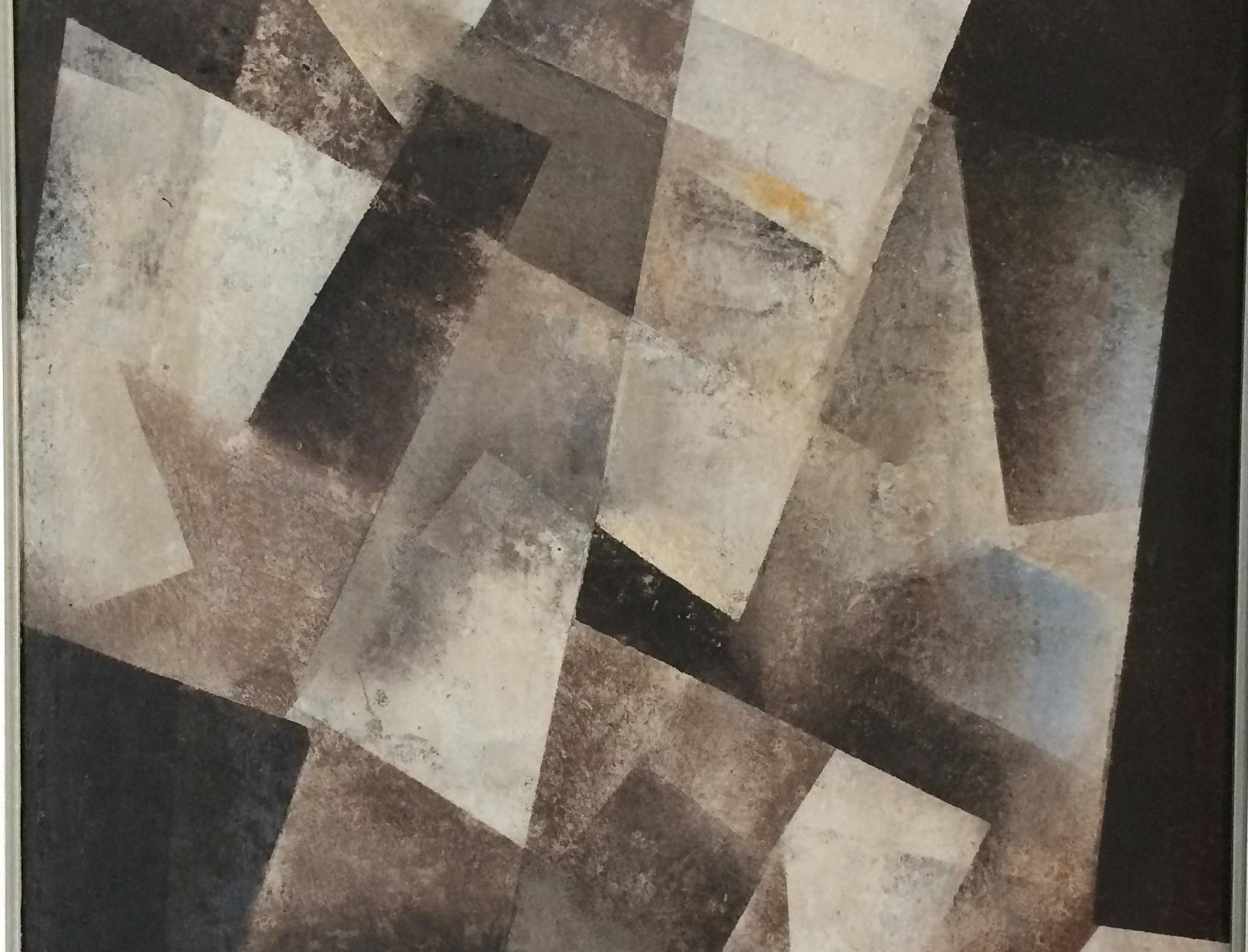 Sammlung Domnick, Ausschnitt aus Hans Hartung T 1948-18 («Formes noires») 1948, Foto:  Staatsanzeiger für Baden-Württemberg, Anja Stangl