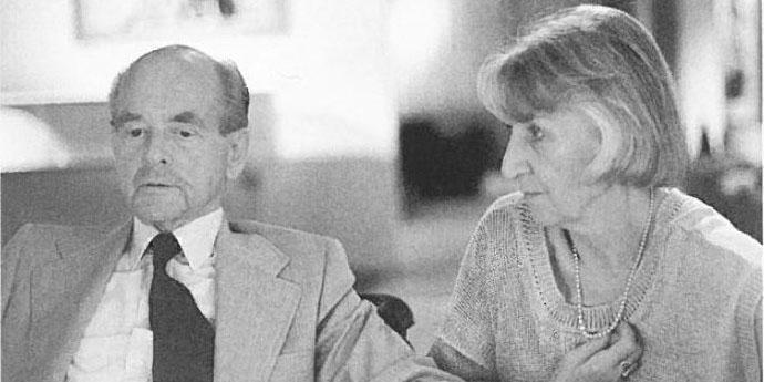 Greta und Ottomar Domnick 1987; Foto: Stiftung Domnick