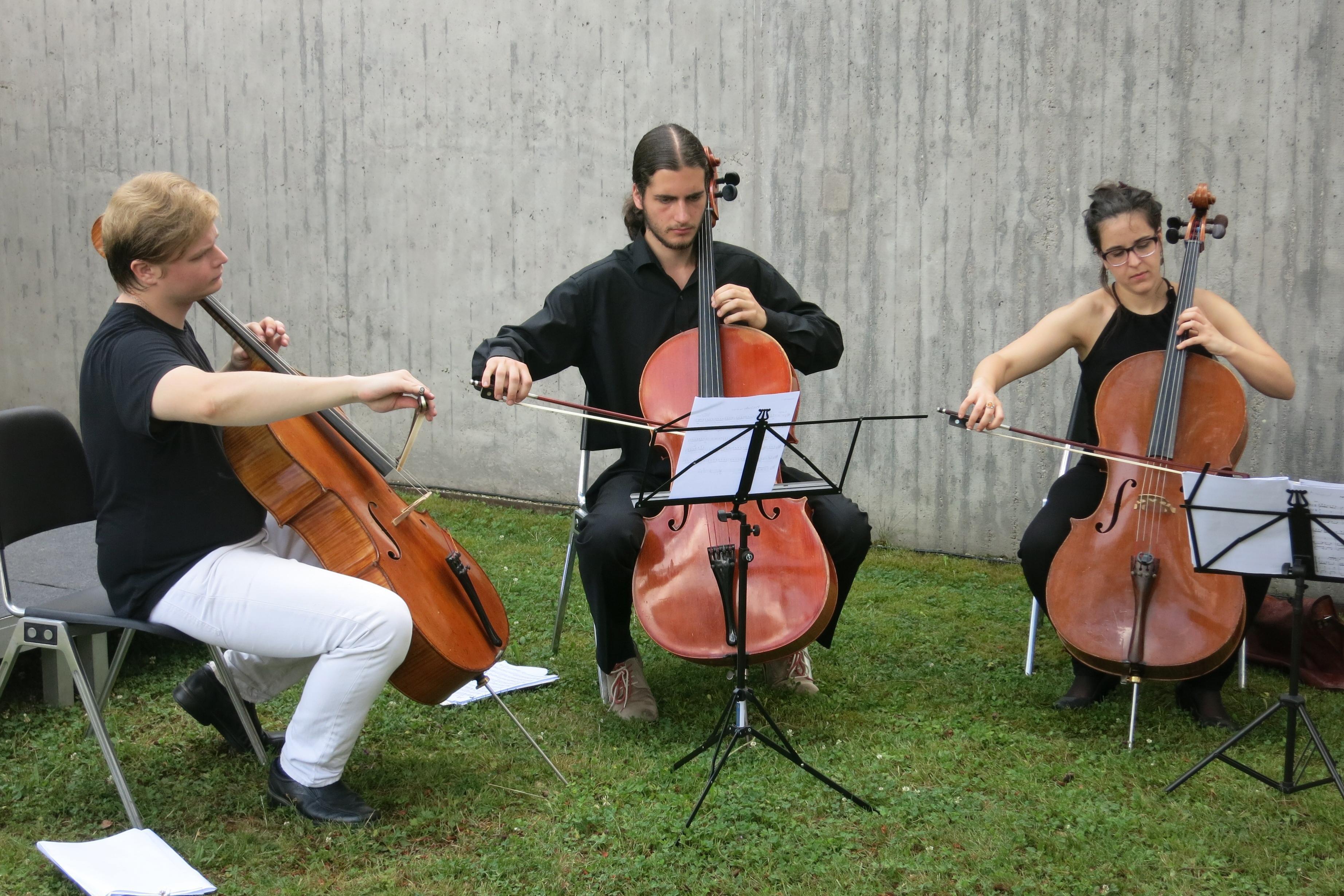 Junge Musiker beim Sommerfest vor der Sammlung Domnick; Foto: Stiftung Domnick, Gebhard