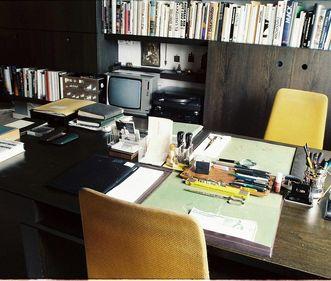 Sammlung, Domnick, Gretas und Ottomar Domnicks gemeinsamer Arbeitsplatz