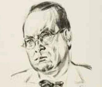 Porträt von Willi Baumeister, Zeichnung von Emil Stumpp, 1927