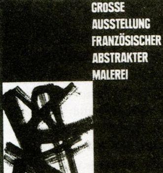 Plakat zur Ausstellung französischer abstrakter Maler, 1949