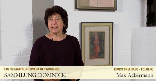 """Startbildschirm des Films """"Max Ackermann"""""""