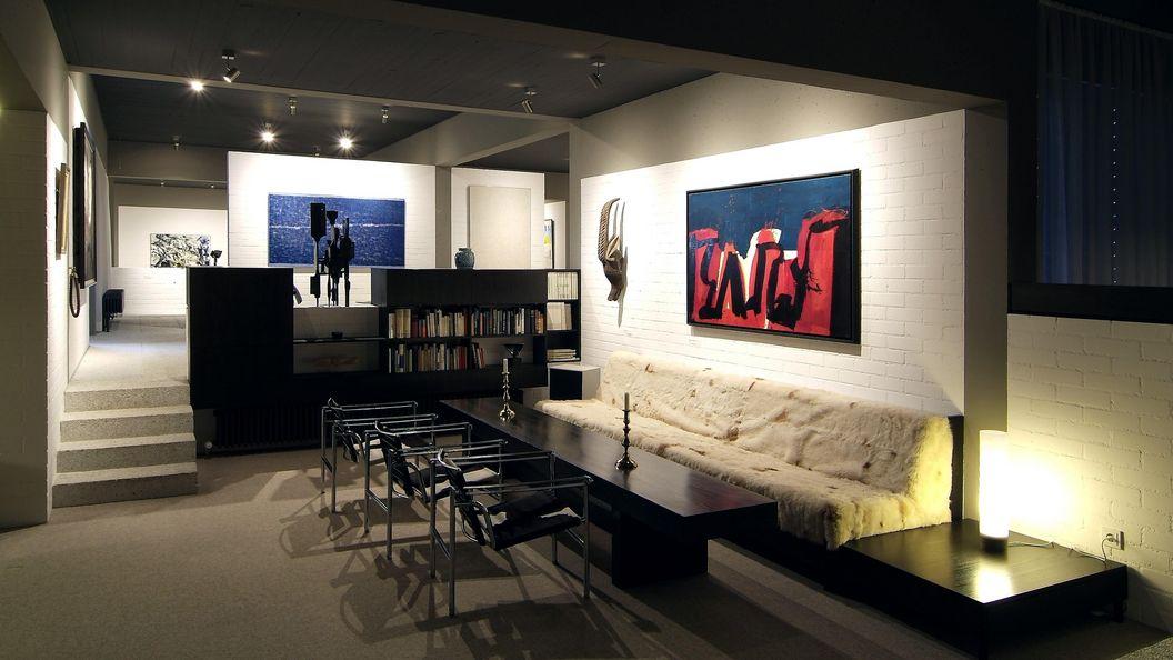 Wohnraum der Sammlung Domnick; Foto: Stiftung Domnick, Volker Naumann