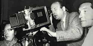 Ottomar Domnick und Andor von Barsy beim Dreh von Jonas 1957