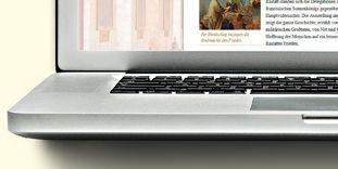 Detail einer Notebook-Tastatur.